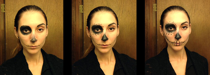 day of the dead makeup steps