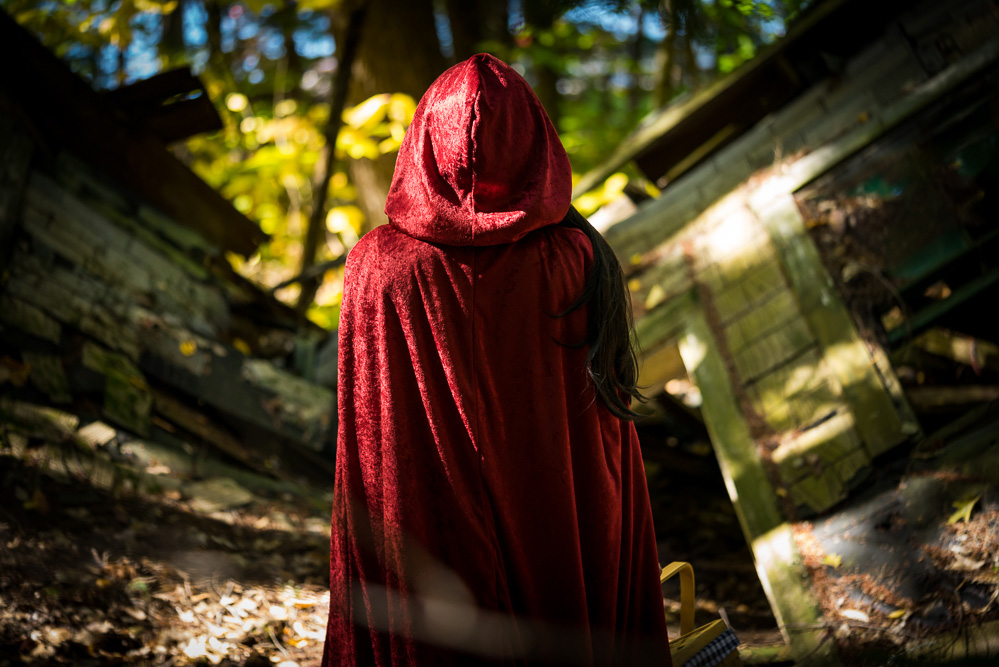 Halloween 2016 Classic Costume Red Riding Hood Back