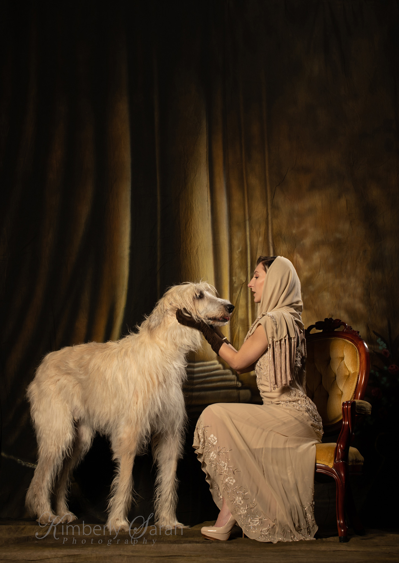 irish wolfhound, new england dog, kimberly sarah photography, 20s fashion